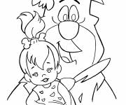 Coloring pages The Flintstones drawing in black and white