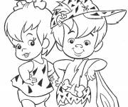 Coloring pages The Flintstones free drawing to color