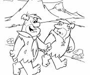 Coloring pages The Flintstones greedy fred