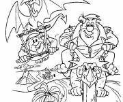 Coloring pages The funny Flintstones