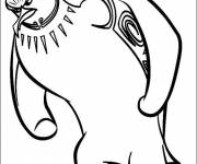 Coloring pages Tank Evans in black and white