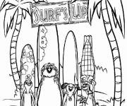 Coloring pages The Kings of sliding for children
