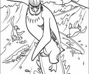 Coloring pages The Penguins The Kings of sliding