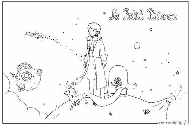 Free coloring and drawings  drawing of The little prince Coloring page