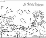 Free coloring and drawings The little cute prince  Coloring page