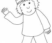 Free coloring and drawings The little prince and his crown Coloring page