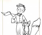 Coloring pages The little prince and the fox