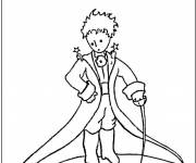 Free coloring and drawings The little prince simple Coloring page