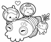 Coloring pages Octonauts have fun for girls