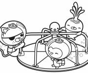 Coloring pages Octonauts play in color