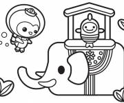 Coloring pages Shellington and the fish online