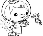 Coloring pages The Dashi Octonauts in The Sea