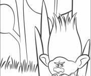 Free coloring and drawings Angry branch Coloring page