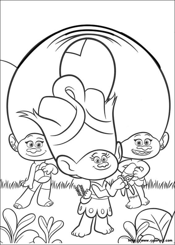 Free coloring and drawings Les trolls Dreamworks Coloring page