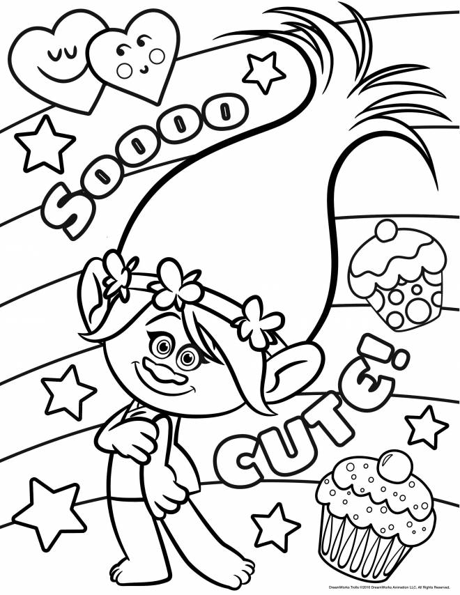 Free coloring and drawings Poppy Coloring page