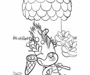 Coloring pages Poppy trolls on an adventure
