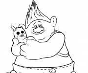 Free coloring and drawings The trolls Biggie Coloring page