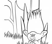 Free coloring and drawings The trolls Branch is cranky Coloring page