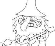 Coloring pages the Trolls world