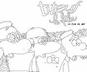 Coloring pages Titeuf and his friends