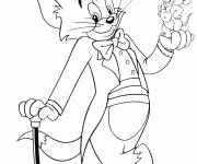Coloring pages Tom and Jerry the gentlemen