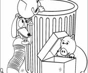 Coloring pages Bayonne, Slinky Dog and Mr.potato cartoon