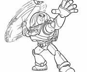 Coloring pages Buzz Lightyear attacks in color