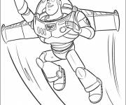 Coloring pages Buzz Lightyear flying