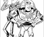 Coloring pages Woody and Buzz Lightyear Toy Story