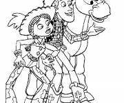 Coloring pages Woody and Jessie toy story