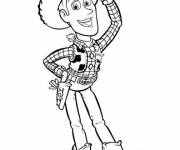 Coloring pages Woody greeting cartoon