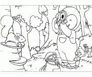Coloring pages Charley and Dimmo in the forest