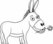 Coloring pages Donkey Trotro