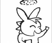 Coloring pages Trotro is showering