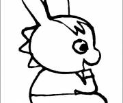Coloring pages Trotro is sitting