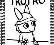 Coloring pages Trotro walking
