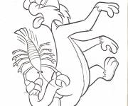 Coloring pages Sylvesteris stung by the crayfish pliers