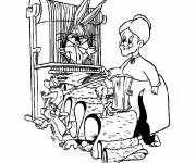 Coloring pages Tittweety and sylvester Looney Tunes