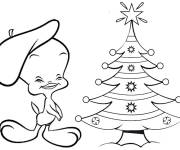 Coloring pages tweety and sylvester Christmas