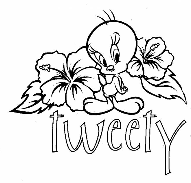 Free coloring and drawings tweety and sylvester online Coloring page