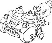 Coloring pages tweety sells ice