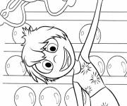 Coloring pages Inside Out joy makes sport