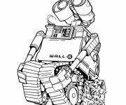 Coloring pages coloring Wall-E robot drawing