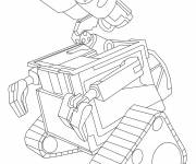 Coloring pages Simple Wall-E online