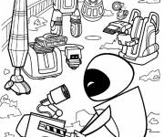 Coloring pages Wall-E and Eve downloadable