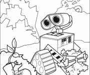 Coloring pages Wall-E finds a shoe