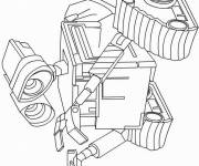 Coloring pages Wall-E robot drawing