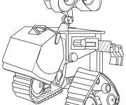 Coloring pages Wall-E robot drawing for children