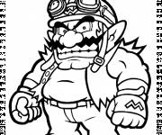 Coloring pages Annoying wario