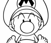 Coloring pages Baby Mario